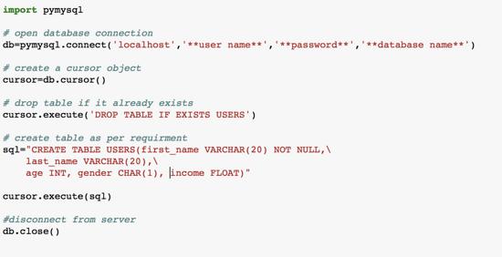 python 學習筆記-- 資料庫】Python3 + MySQL - ITW01